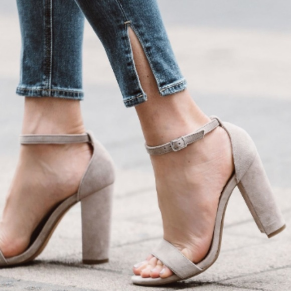 adaad6501a6 Steve Madden Carrson Grey Ankle Strap Sandals 6.5M